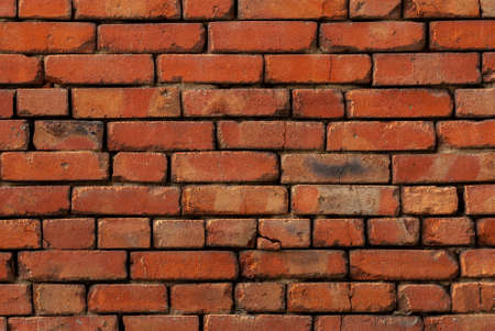 Exterior brick wall texture background. Vintage house facade
