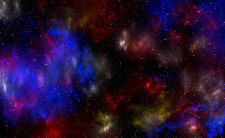 Planets and galaxy, science fiction wallpaper. Beauty of deep space. Billions of galaxies in the universe Cosmic art background. 3D illustration. Фото со стока