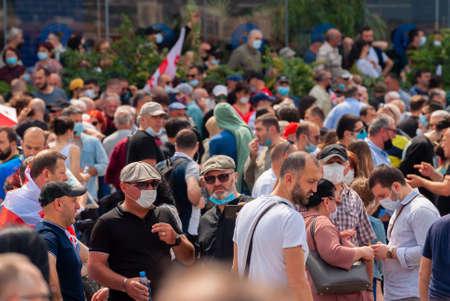 Georgia, Tbilisi - May 23, 2021: Massive Protest Against Namakhvani HPP Underway in Tbilisi.