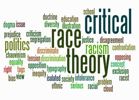 Word Cloud with Critical Race Theory concept create with text only.