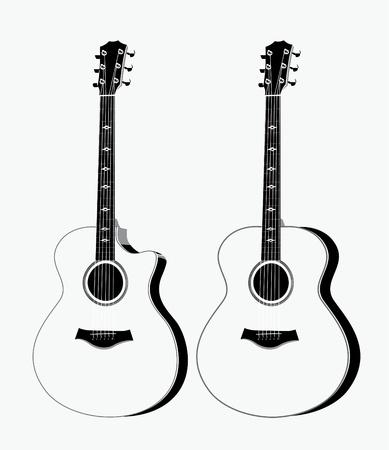 guitar pick: Pair of acoustic guitar