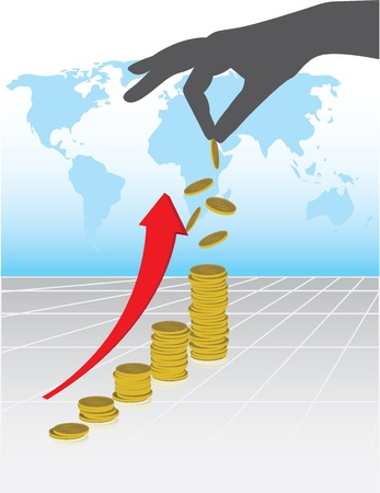 An illustration of business profit grow up