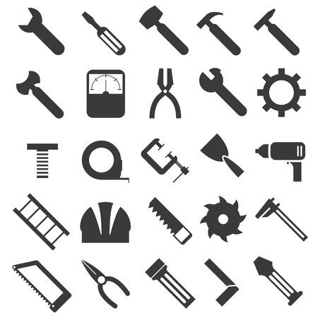 caliper: illustration of mechanical equipment icons set