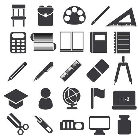 illustration of icons of study equipment Vector