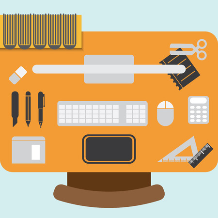 flatten: illustration of workstation design element