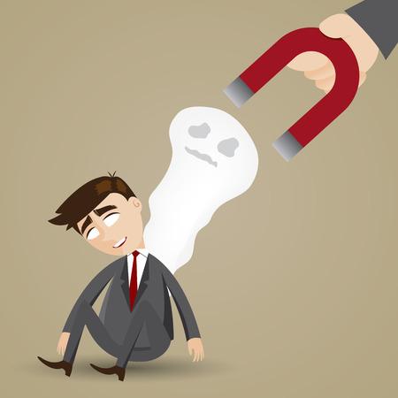 fag: illustration of cartoon businessman feeling fatigue