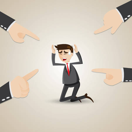 chosen: illustration of cartoon businessman chosen by teammate