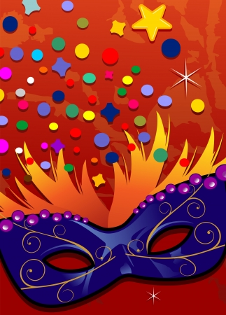 Carnival masks  label ideal for parties -transparency blending effects and gradient mesh Vector