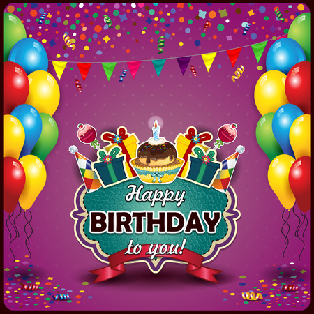 taper: flags and balloons and confetti for parties birthday with space to insert your text-transparency blending effects and gradient mesh-EPS10