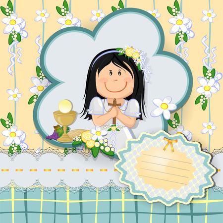 eucharistie: fille de billets de premier niveau modifiable-transparence des effets de mélange de communion robe-divers et filet de dégradé