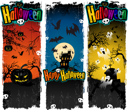 precipice: Happy Halloween with scary night background