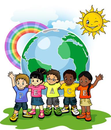 平和の子供アメリカ合衆国世界 写真素材 - 29833147
