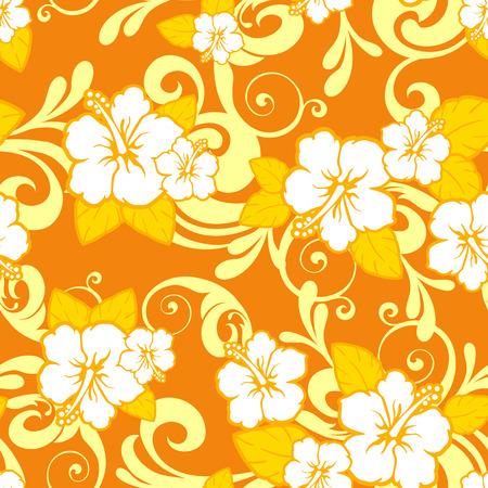 eg: Tropical orange floral seamless