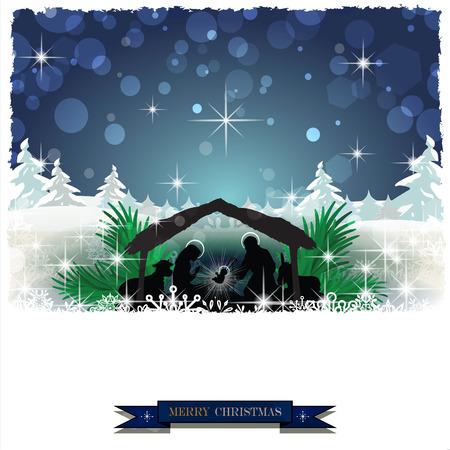 松の木とクリスマスの飾りヴィンテージ効果雪のキリスト降誕削除透明ブレンド効果やグラデーション メッシュ EPS 10 をすることができます。  イラスト・ベクター素材