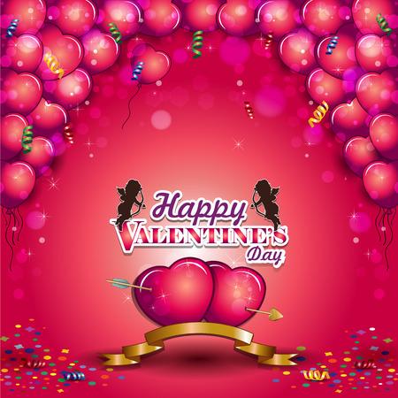 ハート バレンタイン透明ブレンド効果やグラデーション メッシュ EPS 10 風船