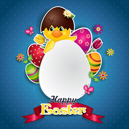 cheerfulness: White egg and Chick where you can insert your own text-transparency blending effects and gradient