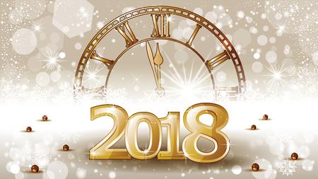 Conto alla rovescia del nuovo anno della bandiera dorata - Effetti di fusione di trasparenza e maglia gradiente-ENV 10. Archivio Fotografico - 88198048