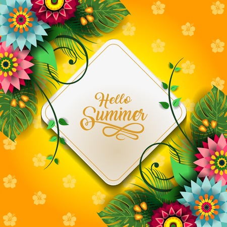 Colorful floral card template pattern design 写真素材 - 98747957
