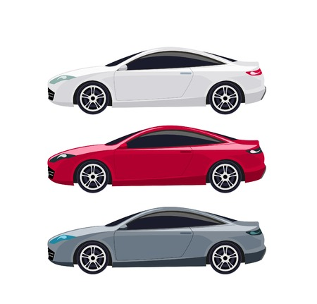Colored modern cars