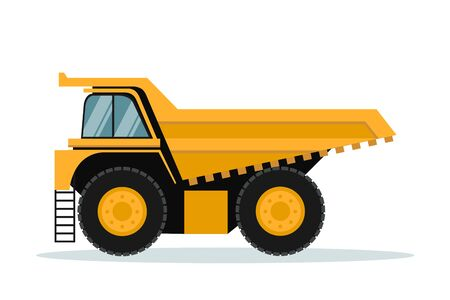 Vector design of mining truck. Heavy machinery