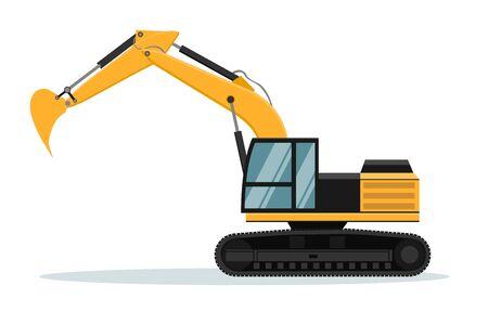 Caterpillar excavator vector design. Heavy machinery Vetores