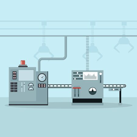 Automated machinery in a control and production line