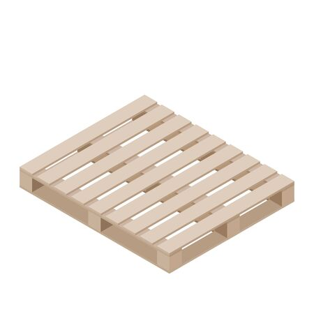 Isometric design of pallet for packaging stacking