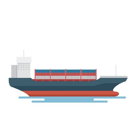 Transportation Logistics Container transport ship for marine export