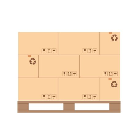Pallet design with palletized product packaging boxes