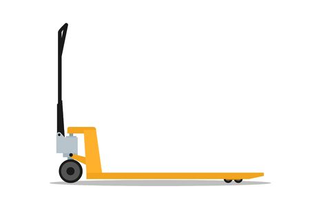 Manual forklift with fork extensions