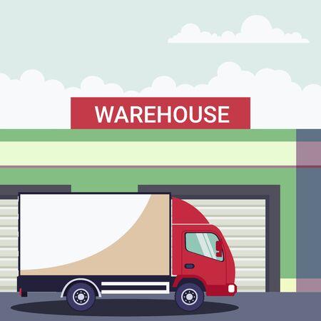 Logistics of storage of a refrigerated truck Ilustração