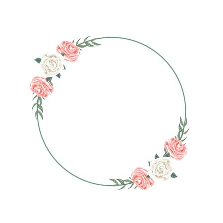Beautiful floral crown arrangement for dedication Ilustrace