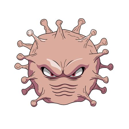 Vector illustration cartoon of ncov virus