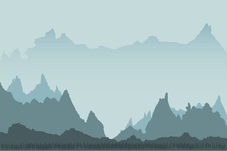 Landscape background of mountains with, forest