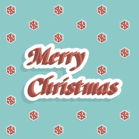 Merry christmas holiday card Vector Illustration