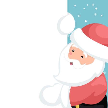 Santa claus vector design for christmas card