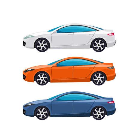 Modern cars vector illustration Vektorové ilustrace