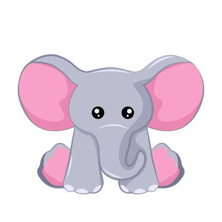 Vector design of tender elephant