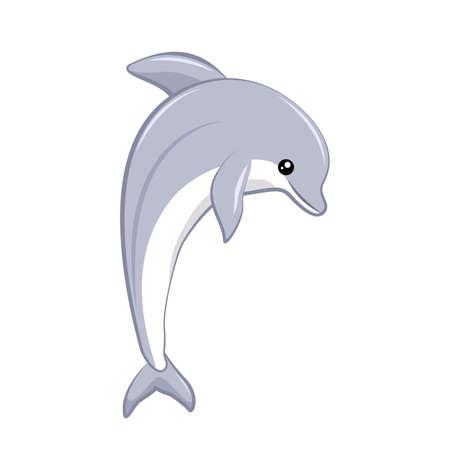 Vector design of tender dolphin