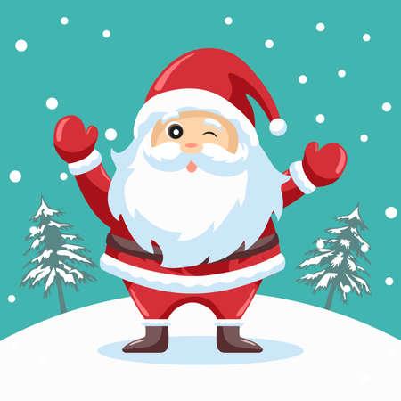 Happy santa claus design for christmas card