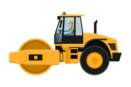 Flattening roll design with heavy machinery driver