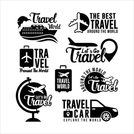 Badge Travel World Collection 스톡 콘텐츠 - 136787779