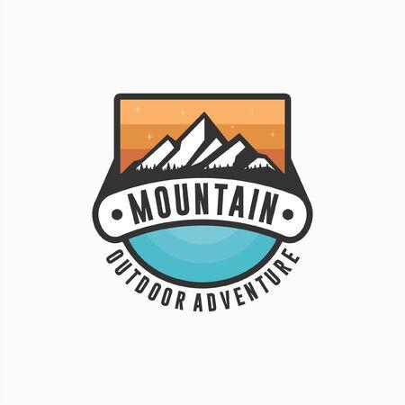 Mountain Outdoor Adventure Design 스톡 콘텐츠 - 136787825