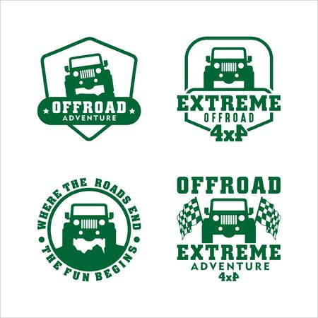 Adventure Offroad  Extreme Logo Vector