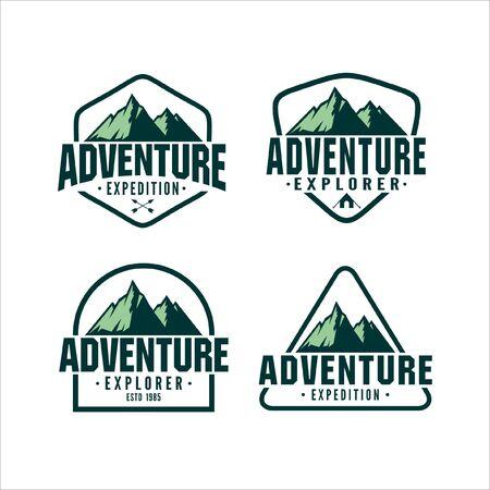 Adventure Vintage Logo vector Collection
