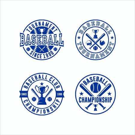 Baseball Tournament Vector Logo Collection