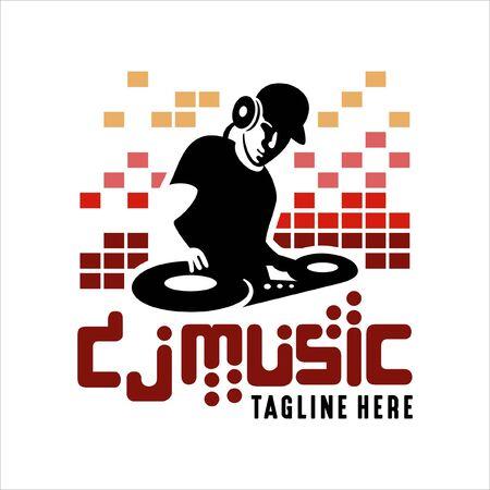 Design Logo Music Dj Vector Illustration
