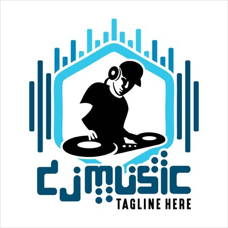 Music Dj Color Vector Logo