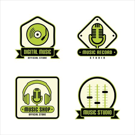 Music Dj Template Vector Collections Illustration