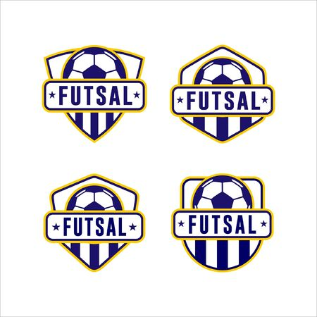 Futsal Cup League Logo Collection  イラスト・ベクター素材